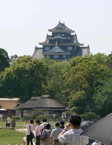 岡山城と花2.JPG